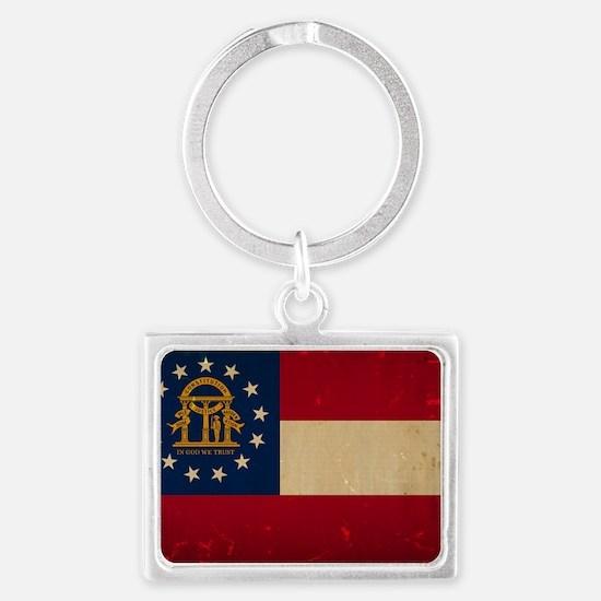 Georgia Flag VINTAGE Keychains