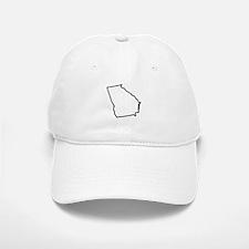 Georgia State Outline Baseball Baseball Cap