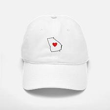 I Love Georgia Baseball Baseball Baseball Cap