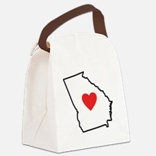I Love Georgia Canvas Lunch Bag