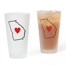 I Love Georgia Drinking Glass