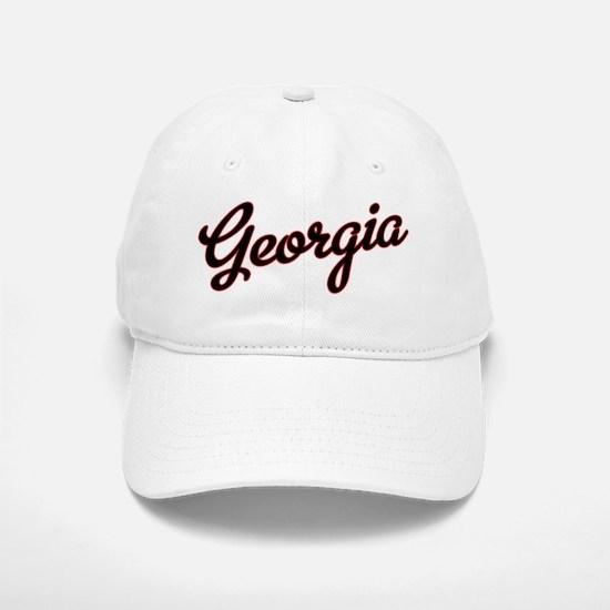 Georgia Script Black VINTAGE Baseball Baseball Cap