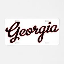 Georgia Script Black VINTAG Aluminum License Plate