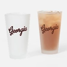 Georgia Script Black VINTAGE Drinking Glass