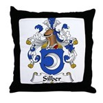 Silber Family Crest Throw Pillow