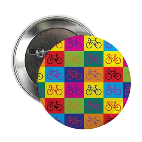 Pop Art Bicycle Button