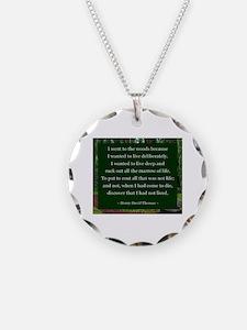 Henry David Thoreau Necklace