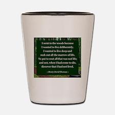Henry David Thoreau Shot Glass