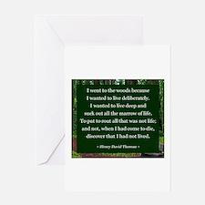 Henry David Thoreau Greeting Cards