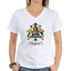 Siegfried Family Crest Women's V-Neck T-Shirt
