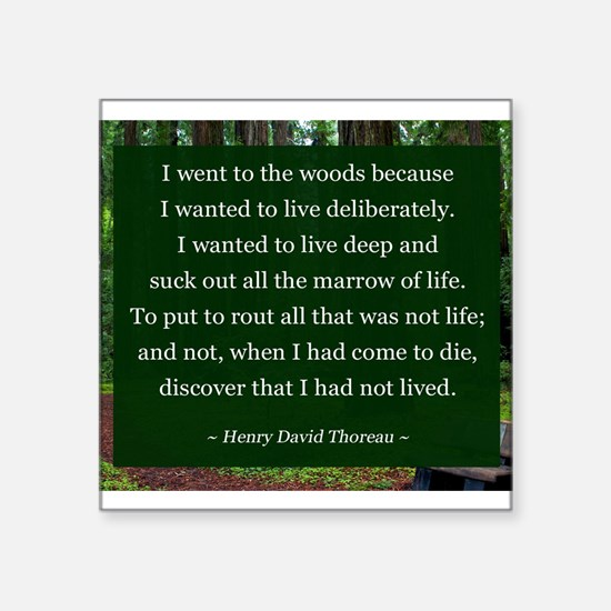 Henry David Thoreau Sticker