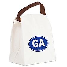 Georgia GA Euro Oval Canvas Lunch Bag