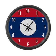 Flag of Laos Large Wall Clock