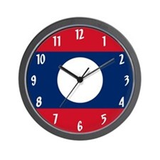 Flag of Laos Wall Clock