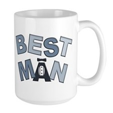 BP Letters Best Man Mug