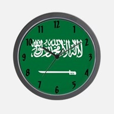 Saudi Arabian Flag Wall Clock