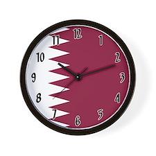 Flag of Qatar Wall Clock