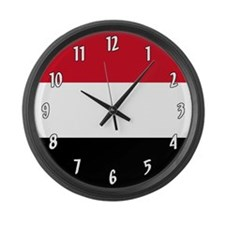 Flag of Yemen Large Wall Clock