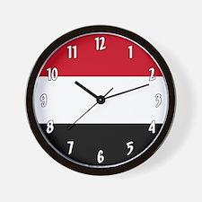 Flag of Yemen Wall Clock