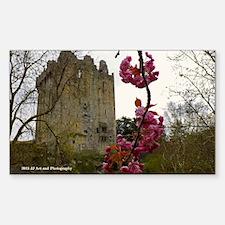 Blarney Blossom Sticker (rectangle)