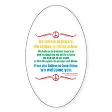 We Believe in Bravery Decal