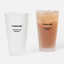 911 DISPATCHER Drinking Glass