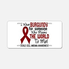 Sickle Cell Anemia MeansWor Aluminum License Plate