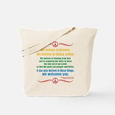 We Believe in Bravery Tote Bag