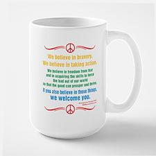 We Believe in Bravery Mugs