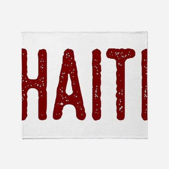 Cute Haiti flag Throw Blanket