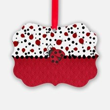 Ladybugs and Dots Ornament