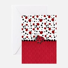 Ladybugs and Dots Greeting Cards