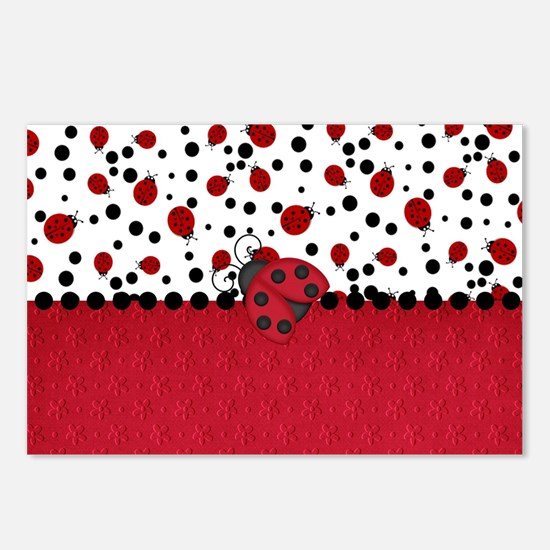 Ladybugs and Dots Postcards (Package of 8)