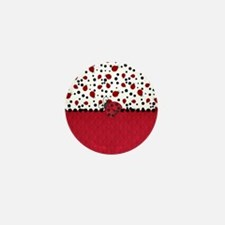 Ladybugs and Dots Mini Button