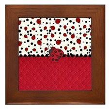 Ladybugs and Dots Framed Tile
