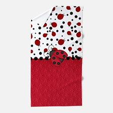 Ladybugs and Dots Beach Towel