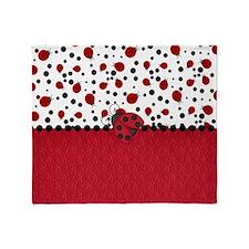 Ladybugs and Dots Throw Blanket