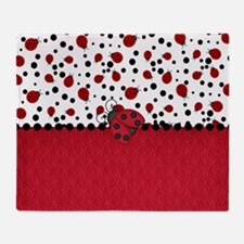 Ladybugs and Dots Throw Blanket