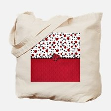 Ladybugs and Dots Tote Bag