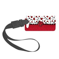 Ladybugs and Dots Luggage Tag