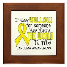 Sarcoma MeansWorldToMe2 Framed Tile