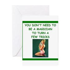card player Greeting Cards