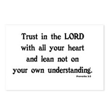PROVERBS 3:5 - TRUST IN T Postcards (Package of 8)
