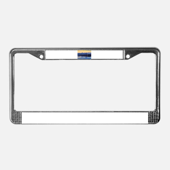 Lake in the Mist License Plate Frame