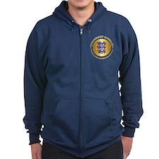 Danmark Emblem Zip Hoodie