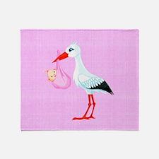 Girl Bundle of Joy Throw Blanket