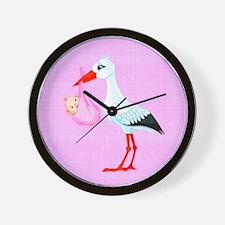 Girl Bundle of Joy Wall Clock