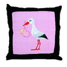 Girl Bundle of Joy Throw Pillow
