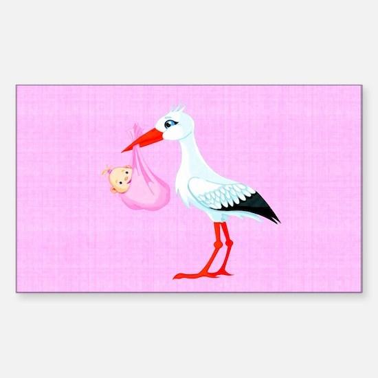 Girl Bundle of Joy Sticker (Rectangle)