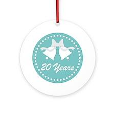 20th Anniversary Wedding Bells Ornament (Round)